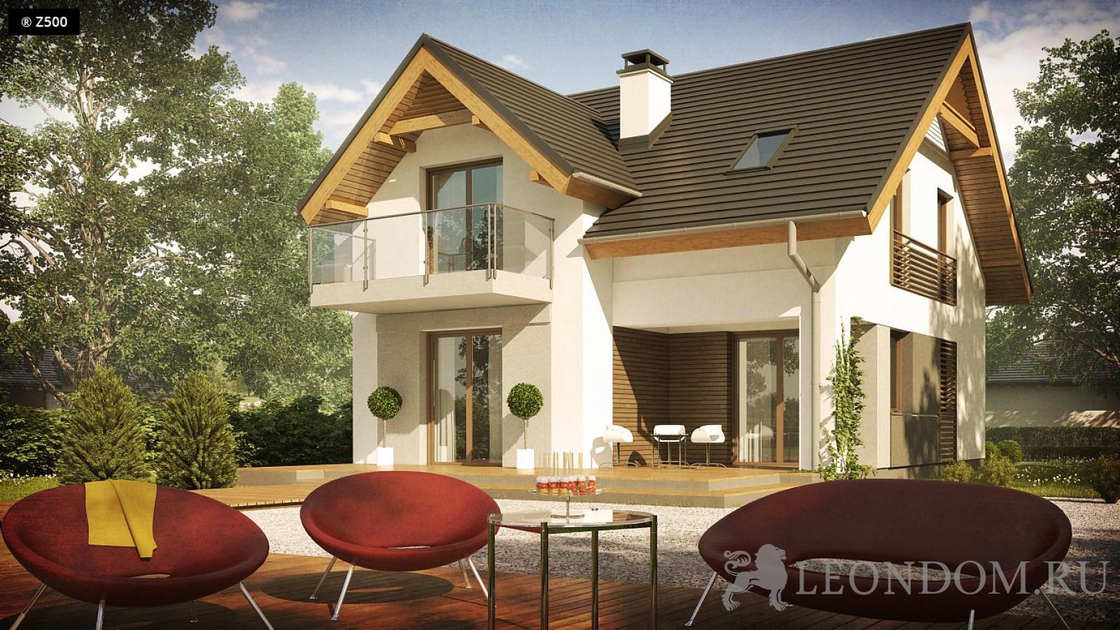 Проект небольшого дома - экономичный и простой в реализации .