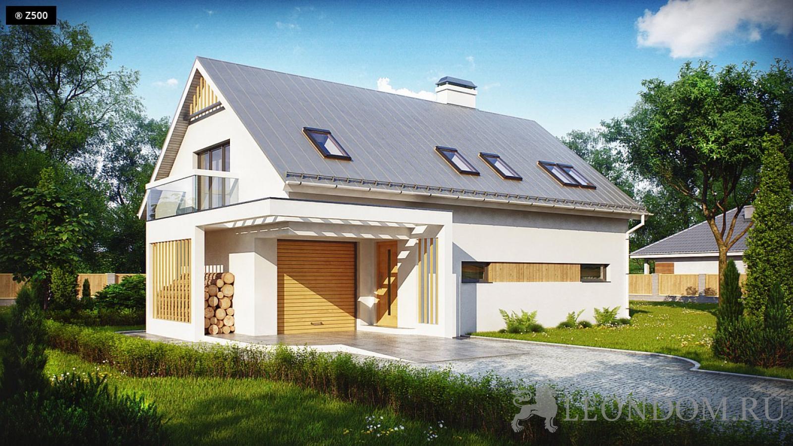 Проекты домов с пристроенным гаражом, под одной крышей - par.