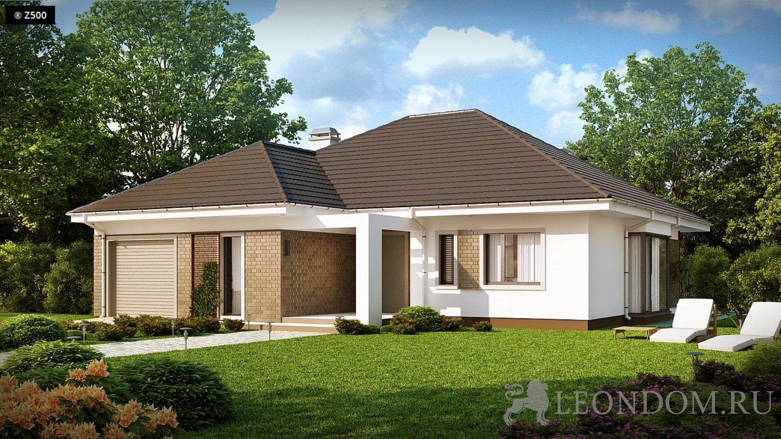 схема построения крыши одноэтажного дома